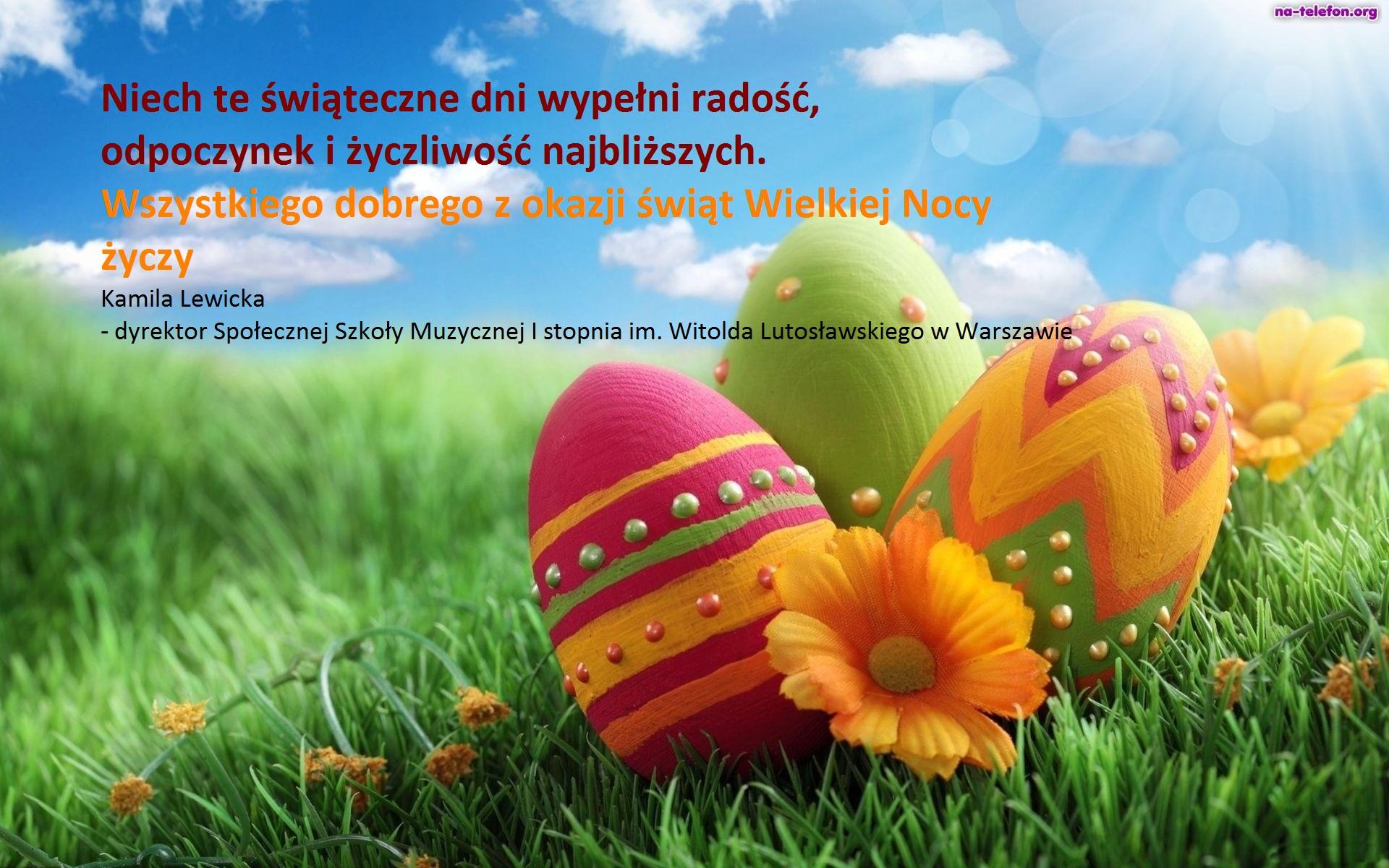 Trawa Jajka Wielkanocne Niebo